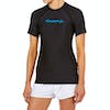 O Neill Basic Skins Short Sleeve Crew Damen Rash Vest - Black
