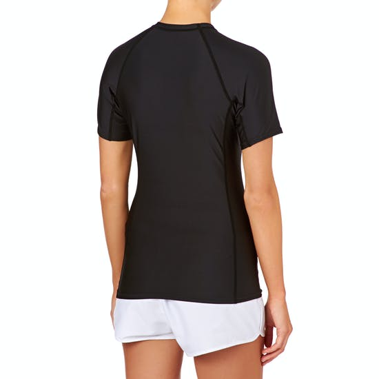 O Neill Basic Skins Short Sleeve Crew Damen Rash Vest