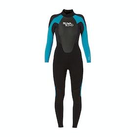 Billabong Launch 5/4/3mm Back Zip Womens Wetsuit - Black/ Turquoise