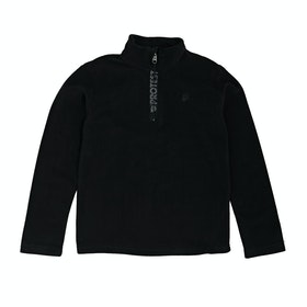 Protest Perfecty Junior Quarter Zip Boys Fleece - True Black