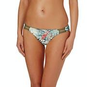 Roxy Printed Strappy Love 70s Pant Bikini Bottoms