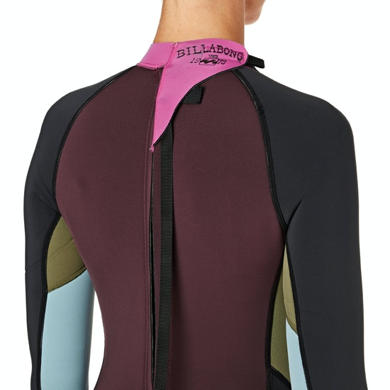 Billabong Spring Fever 2mm Back Zip Long Sleeve Shorty Ladies Wetsuit