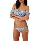 Seafolly Silk Market Cold Shoulder Bandeau Bikini Top