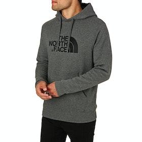 North Face Drew Peak Pullover Hoody - Medium Grey Heather TNF Black