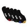 Globe Dip Invisible 5 Pack Socks - Assorted