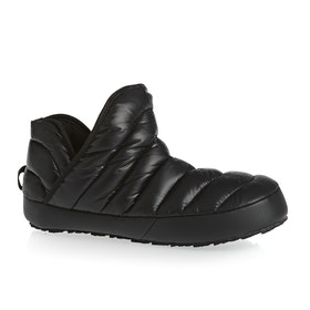 North Face Thermoball Traction Bootie Womens Slippers - Shiny TNF Black