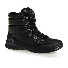 North Face Thermoball Lace II Womens Boots - Shiny TBF Black Iron Gate Grey