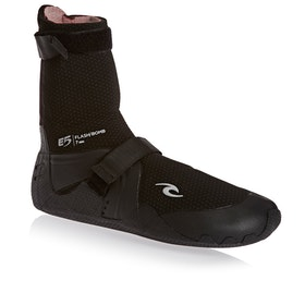 Rip Curl Flashbomb 7mm Round Toe Wetsuit Boots - Black