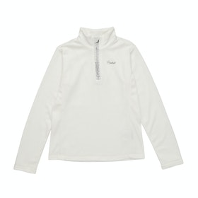 Protest Mutey Jr Quarter Zip Girls Fleece - Seashell