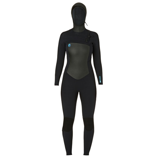 O'Neill Womens O'riginal 6/5/4mm Chest Zip Hooded Wetsuit