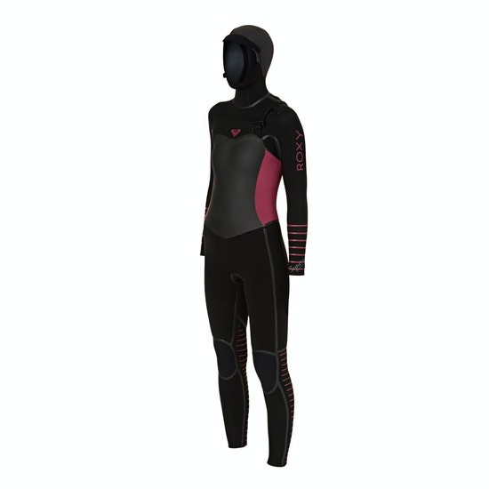 Combinaison de Surf Femme Roxy 5/4/3mm 2018 Syncro Plus Hooded Chest Zip