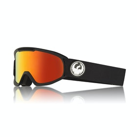 Dragon DX2 Black Snow Goggles - Lumalens Red Ionized