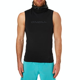 O'Neill Thermo X Neo Hooded Short Sleeve Thermal Rash Vest - Black