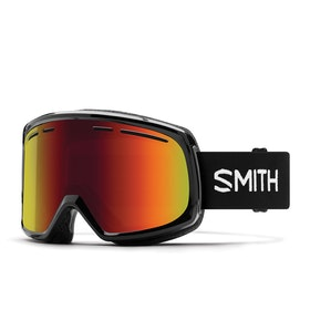 Smith Range Black Snow Goggles - Red Solex