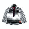 Joules Half Zip Girls Fleece - Snow White Stripe