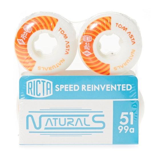 Ricta Asta Naturals 99a Skateboard Wheel