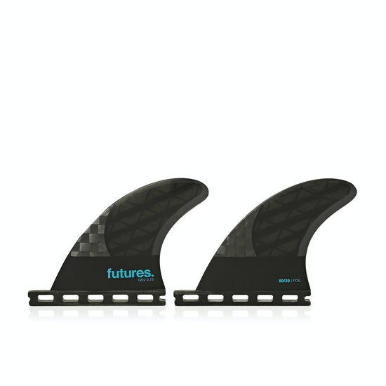 Futures QD2 3.75 8020 Blackstix 3.0 Quad Rear Fin