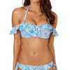 Seafolly Bazaar Cold Shoulder Bandeau Bikini Top - Bluemist