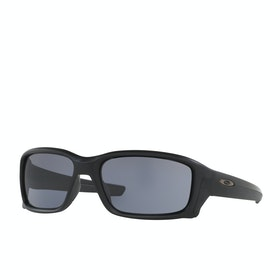 Oakley Straightlink Sunglasses - Matte Black ~ Grey