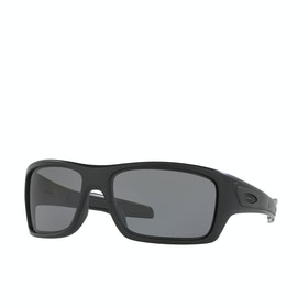 Oakley Turbine Polarised Sunglasses - Matte Black ~ Grey