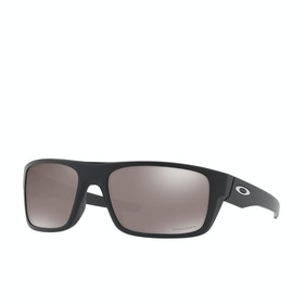 Oakley Drop Point Polarised Sunglasses - Matte Black ~ Prizm Black
