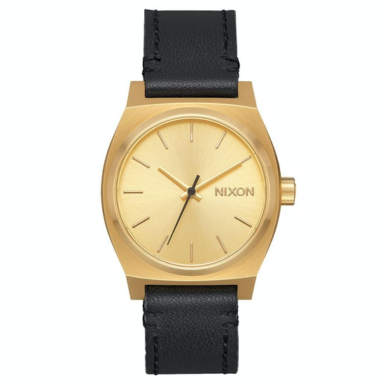 Nixon Medium Time Teller Leather Ladies Watch
