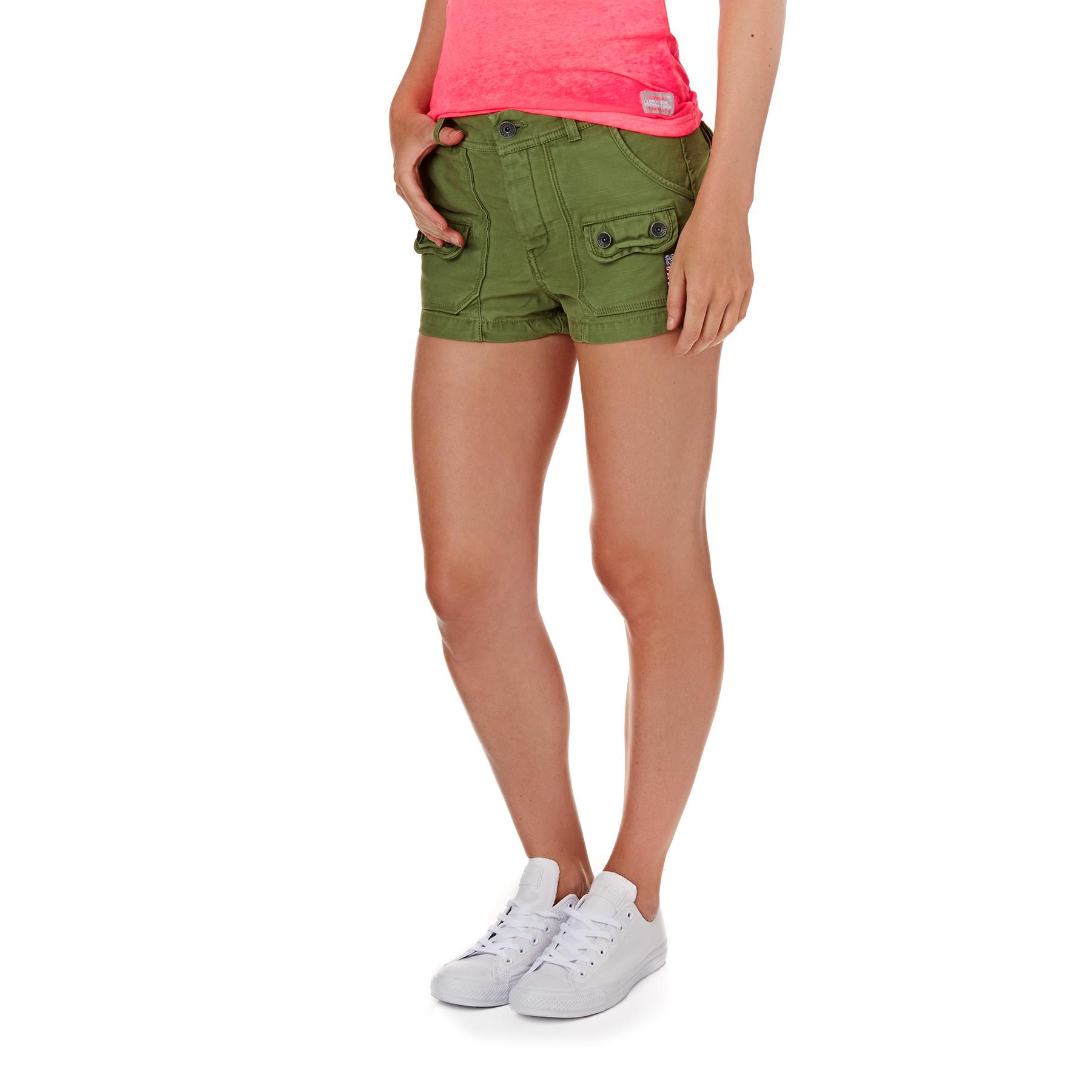 Superdry Utility Hot Damen Shorts | Kostenlose Lieferung