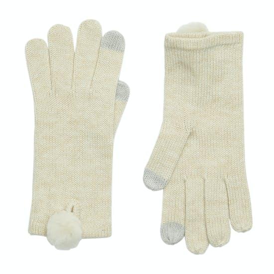 UGG Smart With Fur Poms Womens Gloves