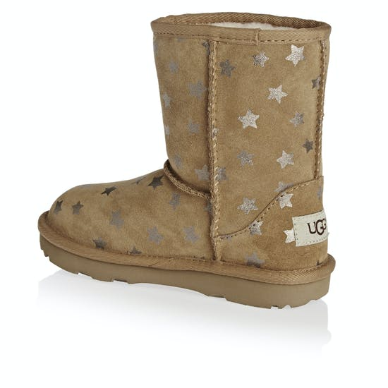 8532bb71546 UGG Kids Classic Short II Stars Girls Boots available from Surfdome