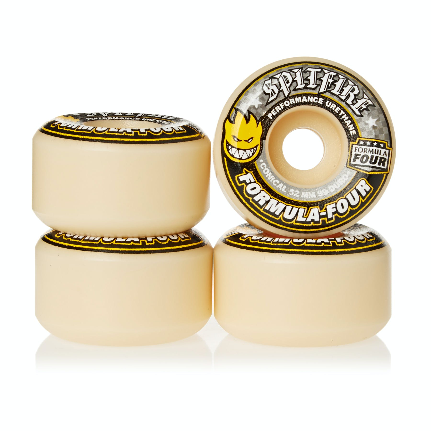Spitfire Formula Four Wheels Conical 99DU Natural 52mm Kolečko ke skateboardu