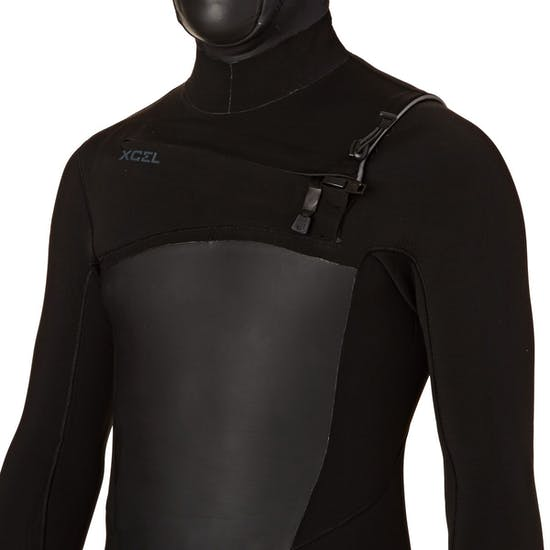 Xcel Drylock TDC 4/3mm Chest Zip Hooded Wetsuit