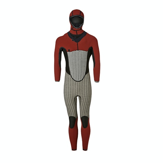 Xcel Drylock X 5/4mm 2018 Chest Zip Hooded Wetsuit