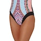 Seafolly Nights Cap Sleeve Maillot Womens Swimsuit