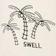 SWELL Palm Canvas Womens Beach Bag