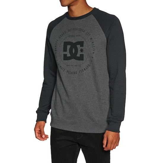 DC Rebuilt Crew Raglan Mens Sweater