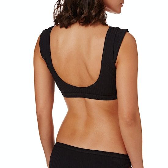 Seafolly Inka Rib Wrap Front Crop Bikini Top