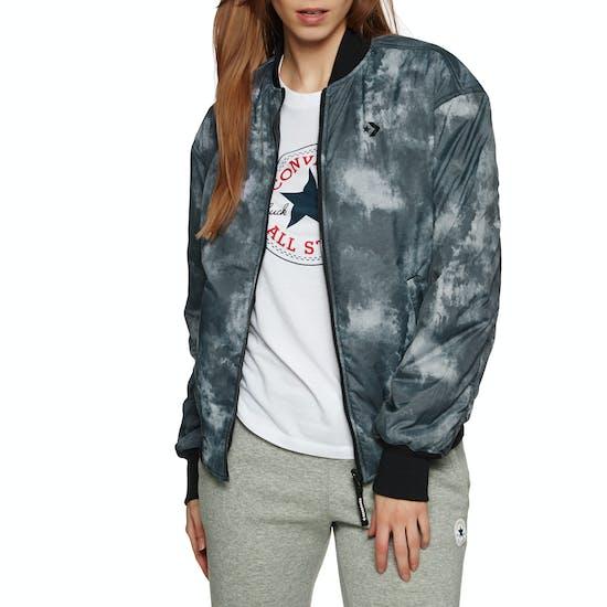 Converse Reversible Smoke Print Oversized MA1 Bomber Ladies Jacket