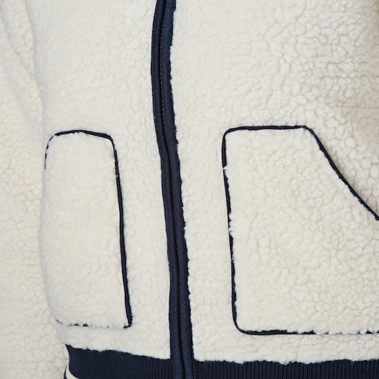 SWELL Meribel Piped Sherpa Damen Kapuzenpullover mit Reißverschluss