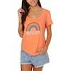 T-Shirt à Manche Courte Femme Rip Curl Rainbow - Paparino