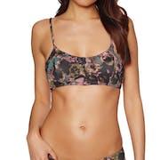 RVCA Camo Floral Bralette Bikini Top