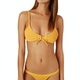 The Hidden Way Charlotte Shirred Bralette Bikini Top