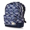 Roxy Sugar Baby Womens Backpack - Dress Blues Geometric Feeling