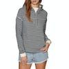 Roxy Greatest Glory Stripe Womens Pullover Hoody - Dress Blues Trippin