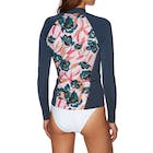 Billabong 1mm Peeky Long Sleeve Front Zip Ladies Rash Vest