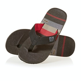 Reef Ht Prints Sandals - Black/red/stripes