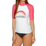 Billabong Logo Short Sleeve Ladies Rash Vest