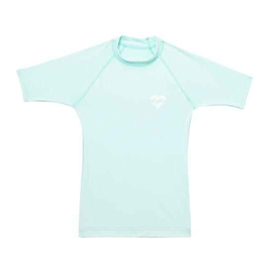 Billabong Heart Logo Short Sleeve Girls Rash Vest