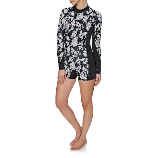Billabong Spring Fever 2mm Back Zip Long Sleeve Shorty Womens Wetsuit
