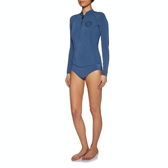 Billabong Salty Dayz 2mm Back Zip Long Sleeve Shorty Womens Wetsuit