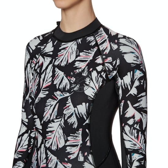 Billabong Spring Fever 2mm Back Zip Long Sleeve Shorty Ladies Wetsuit